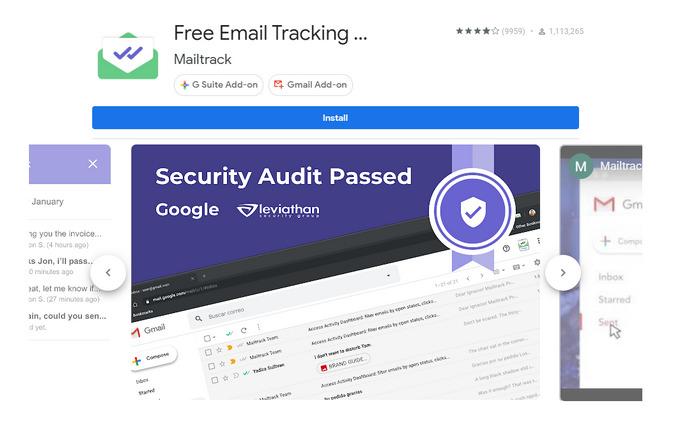 install Mailtrack add-on on Android