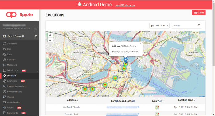 GPS Tracking App for Android
